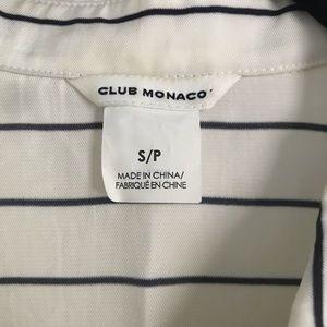 "Club Monaco Tops - Club Monaco striped ""pajama"" style top"